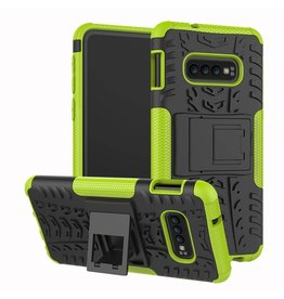 Case2go Samsung Galaxy S10 hoes - Schokbestendige Back Cover - Groen