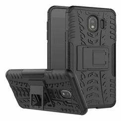 Samsung Galaxy J4 hoesje - Schokbestendige Back Cover - Zwart
