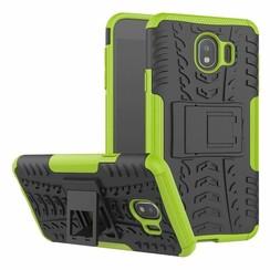 Samsung Galaxy J4 hoesje - Schokbestendige Back Cover - Groen