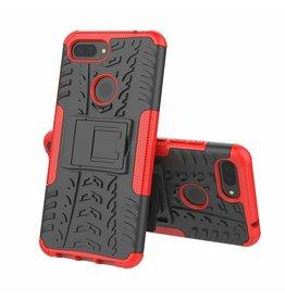 Case2go Xiaomi 8 lite hoesje - Schokbestendige Back Cover - Rood