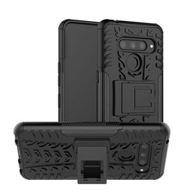 Case2go LG V50 ThinQ hoesje - Schokbestendige Back Cover - Zwart