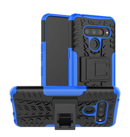 Case2go LG V50 ThinQ hoesje - Schokbestendige Back Cover - Blauw