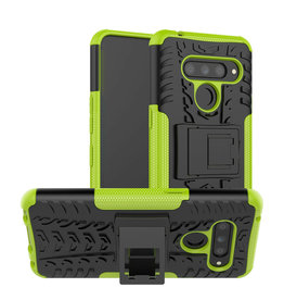 Case2go LG V50 ThinQ hoesje - Schokbestendige Back Cover - Groen