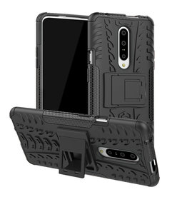 Case2go OnePlus 7 hoesje - Schokbestendige Back Cover - Zwart
