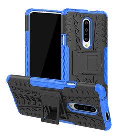 Case2go OnePlus 7 hoesje - Schokbestendige Back Cover - Blauw