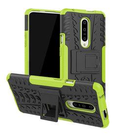 Case2go OnePlus 7 hoesje - Schokbestendige Back Cover - Groen