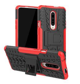 Case2go OnePlus 7 hoesje - Schokbestendige Back Cover - Rood