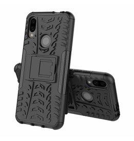 Case2go Xiaomi Redmi 7 hoesje - Schokbestendige Back Cover - Zwart