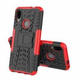 Case2go Xiaomi Redmi 7 hoesje - Schokbestendige Back Cover - Rood