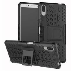 Sony Xperia L3 hoesje - Schokbestendige Back Cover - Zwart