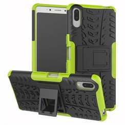 Sony Xperia L3 hoesje - Schokbestendige Back Cover - Groen