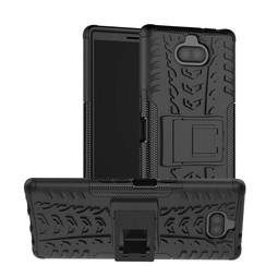 Sony Xperia 10 hoesje - Schokbestendige Back Cover - Zwart