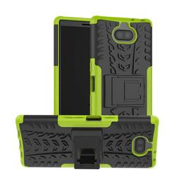 Sony Xperia 10 hoesje - Schokbestendige Back Cover - Groen