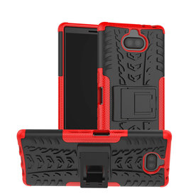 Case2go Sony Xperia 10 hoesje - Schokbestendige Back Cover - Rood
