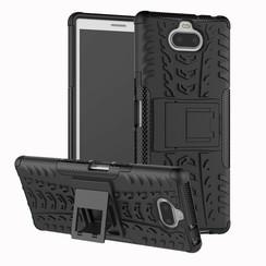 Sony Xperia 10 Plus hoesje - Schokbestendige Back Cover - Zwart