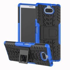 Sony Xperia 10 Plus hoesje - Schokbestendige Back Cover - Blauw