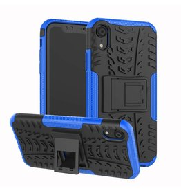Case2go iPhone XR hoes - Schokbestendige Back Cover - Blauw