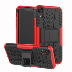 iPhone XR hoes - Schokbestendige Back Cover - Rood