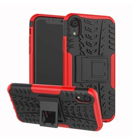 Case2go iPhone XR hoes - Schokbestendige Back Cover - Rood