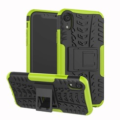 iPhone XR hoes - Schokbestendige Back Cover - Groen
