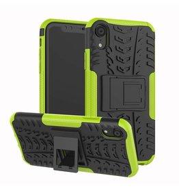 Case2go iPhone XR hoes - Schokbestendige Back Cover - Groen