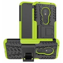 Motorola Moto G7 Play hoes - Schokbestendige Back Cover - Groen