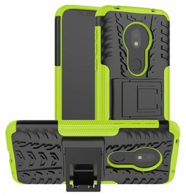 Case2go Motorola Moto G7 Play hoes - Schokbestendige Back Cover - Groen
