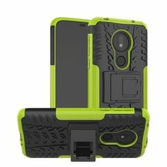Motorola Moto G7 Power hoes - Schokbestendige Back Cover - Groen