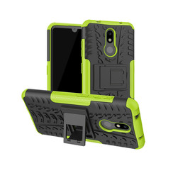 Nokia 3.2 hoes - Schokbestendige Back Cover - Groen