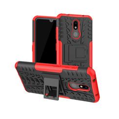 Nokia 3.2 hoes - Schokbestendige Back Cover - Rood