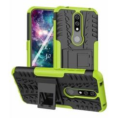 Nokia 4.2 hoes - Schokbestendige Back Cover - Groen