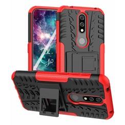 Nokia 4.2 hoes - Schokbestendige Back Cover - Rood