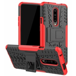 OnePlus 7 Pro hoes - Schokbestendige Back Cover - Rood
