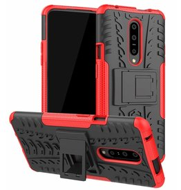 Case2go OnePlus 7 Pro hoes - Schokbestendige Back Cover - Rood