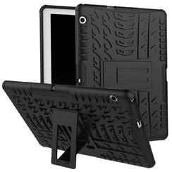 Huawei Mediapad M5 Lite 10 hoes - Schokbestendige Back Cover - Zwart