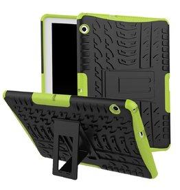 Case2go Huawei Mediapad M5 Lite 10 hoes - Schokbestendige Back Cover - Groen