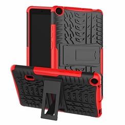 Huawei Mediapad T3 7 hoes - Schokbestendige Back Cover - Rood