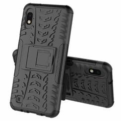 Samsung Galaxy A10 hoes - Schokbestendige Back Cover - Zwart
