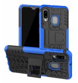Case2go Samsung Galaxy A20e hoes - Schokbestendige Back Cover - Blauw