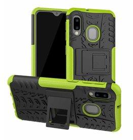 Case2go Samsung Galaxy A20e hoes - Schokbestendige Back Cover - Groen