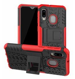 Case2go Samsung Galaxy A20e hoes - Schokbestendige Back Cover - Rood