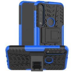 Motorola Moto G8 Plus hoes - Schokbestendige Back Cover - Blauw