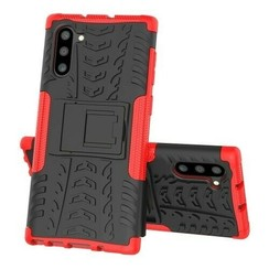 Samsung Galaxy Note 10 hoes - Schokbestendige Back Cover - Rood