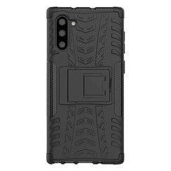 Samsung Galaxy Note 10 Plus hoes - Schokbestendige Back Cover - Zwart