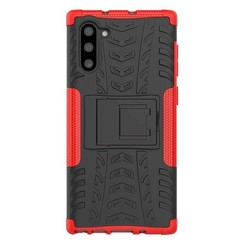 Samsung Galaxy Note 10 Plus hoes - Schokbestendige Back Cover - Rood
