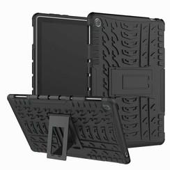 Huawei MediaPad M5 8.4 inch hoes - Schokbestendige Back Cover - Zwart