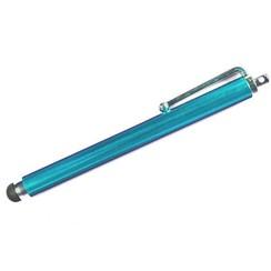 Stylus pen soft touch met clip Licht Blauw