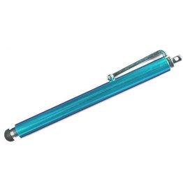 Case2go Stylus pen soft touch met clip Licht Blauw