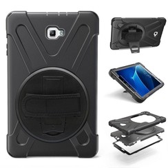 Samsung Galaxy Tab A 10.1 (2016/2018) Hand Strap Armor Case - Zwart