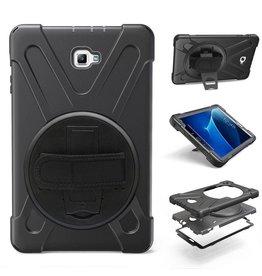 Case2go Samsung Galaxy Tab A 10.1 (2016/2018) Hand Strap Armor Case - Zwart